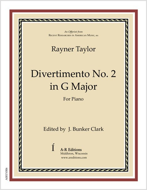 Taylor: Divertimento No. 2 in G Major