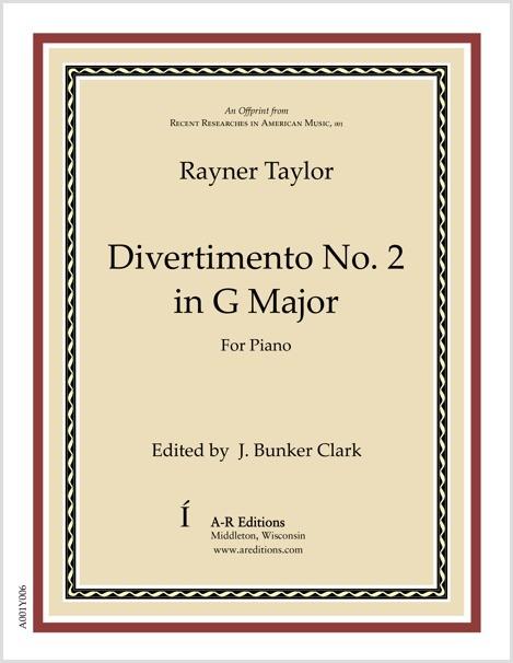 Taylor: Divertimento No. 2 in G Major