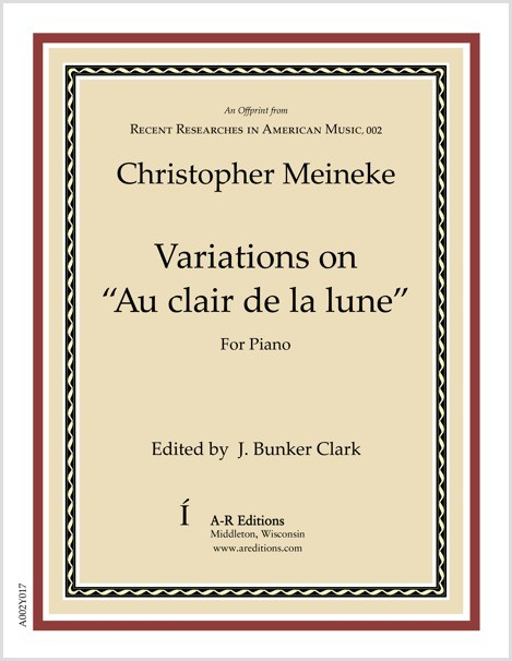 "Meineke: Variations on ""Au clair de la lune"""