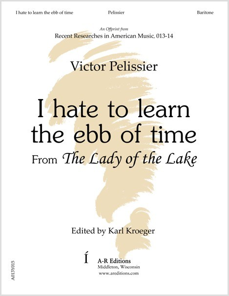 Pelissier: I hate to learn the ebb of time