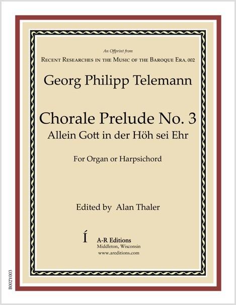 Telemann: Chorale Prelude No. 3