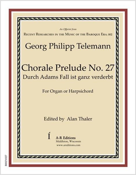 Telemann: Chorale Prelude No. 27