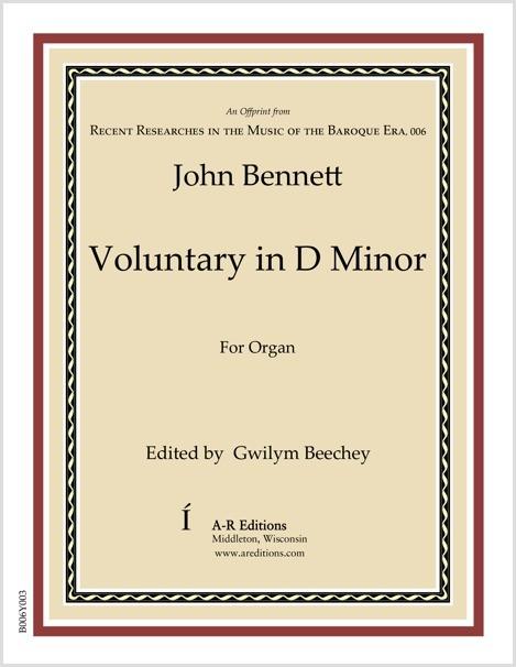 Bennett: Voluntary in D Minor