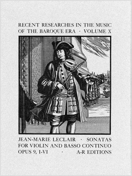 Leclair: Sonatas for Violin, Op. 9, Nos. 1–6