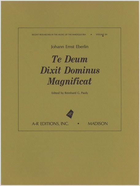 Eberlin: Te Deum; Dixit Dominus; Magnificat