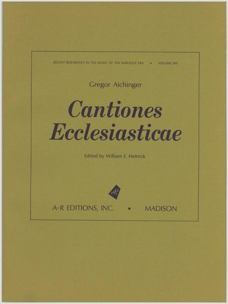 Aichinger: Cantiones Ecclesiasticae