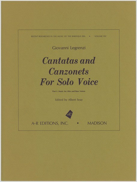 Legrenzi: Cantatas and Canzonets for Solo Voice, Part 1