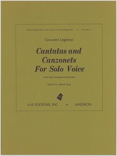 Legrenzi: Cantatas and Canzonets for Solo Voice