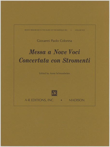 Colonna: Messe a nove voci concertata con stromenti