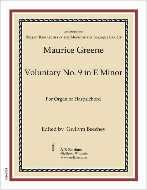Greene: Voluntary No. 9 in E Minor