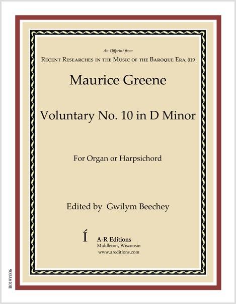 Greene: Voluntary No. 10 in D Minor