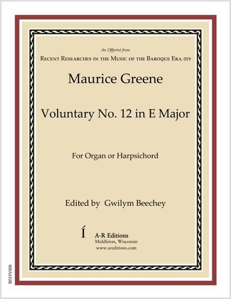 Greene: Voluntary No. 12 in E Major