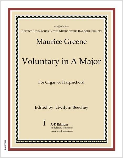 Greene: Voluntary in A Major