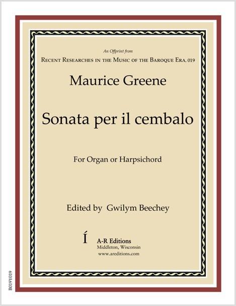 Greene: Sonata per il cembalo
