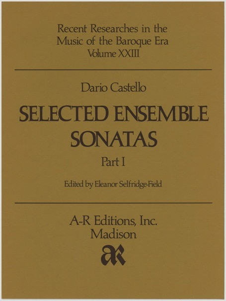 Castello: Selected Ensemble Sonatas
