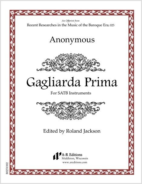 Anonymous: Gagliarda Prima