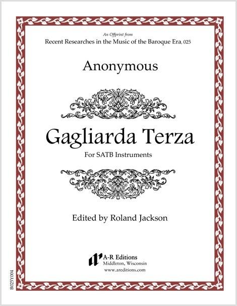 Anonymous: Gagliarda Terza