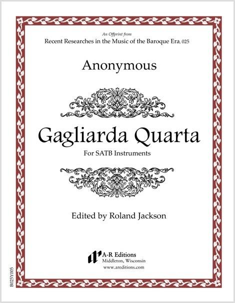 Anonymous: Gagliarda Quarta