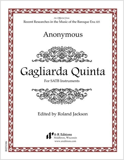 Anonymous: Gagliarda Quinta