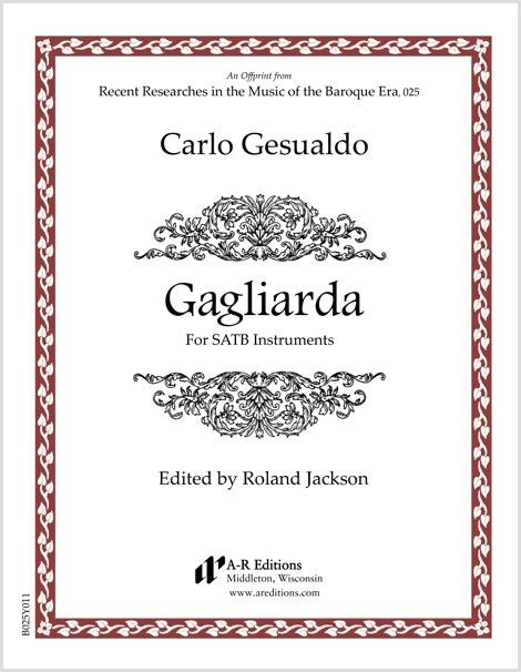 Gesualdo: Gagliarda