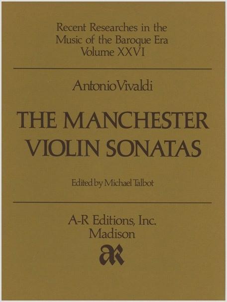 Vivaldi: Manchester Violin Sonatas