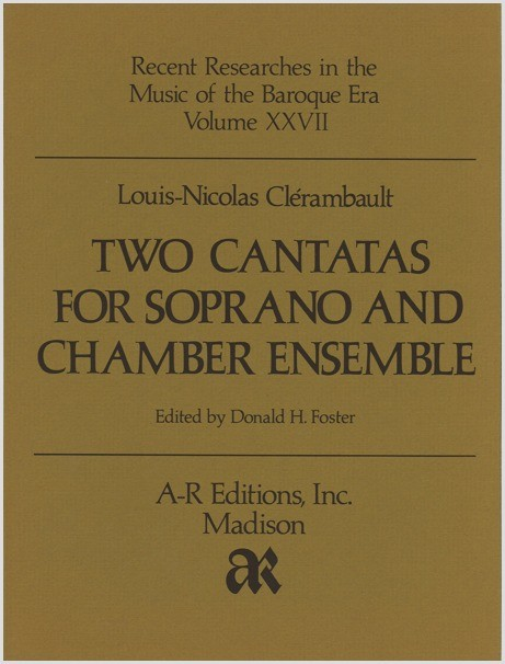 Clérambault: Two Cantatas for Soprano and Chamber Ensemble