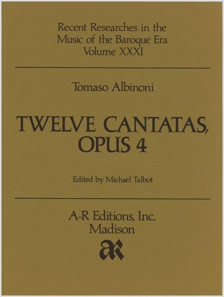Albinoni: Twelve Cantatas, Op. 4