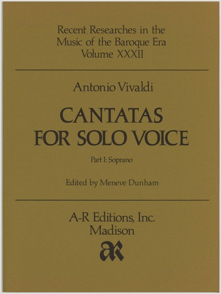 Vivaldi: Cantatas for Solo Voice