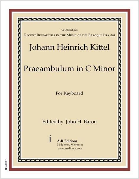 Kittel: Praeambulum in C Minor