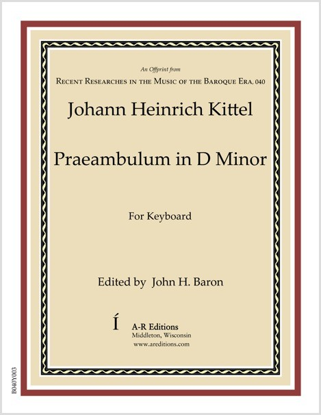 Kittel: Praeambulum in D Minor