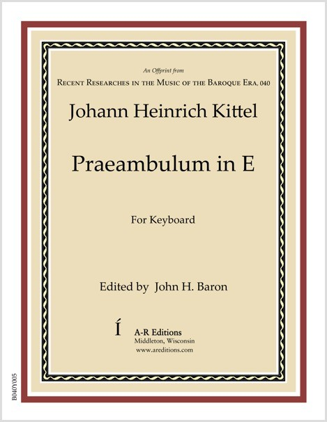 Kittel: Praeambulum in E