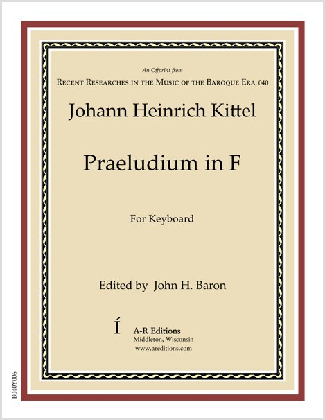 Kittel: Praeludium in F