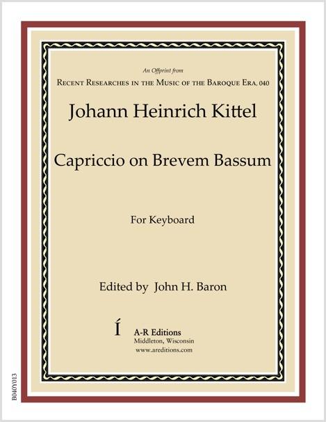 Kittel: Capriccio on Brevem Bassum