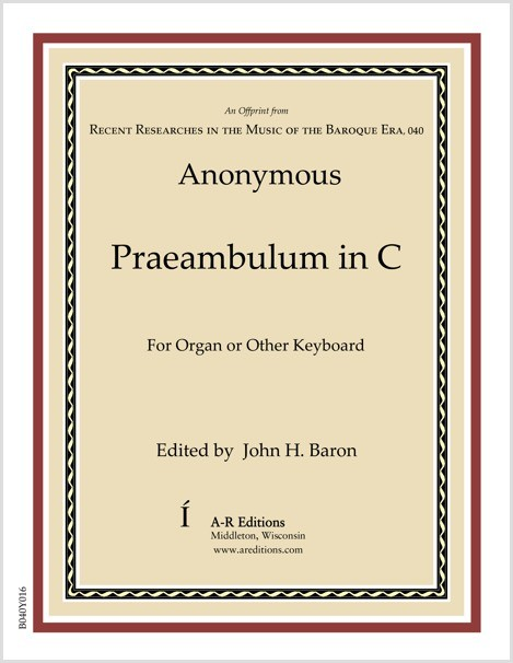 Anonymous: Praeambulum in C