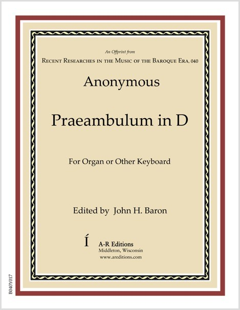 Anonymous: Praeambulum in D