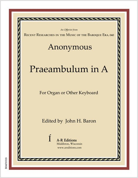 Anonymous: Praeambulum in A