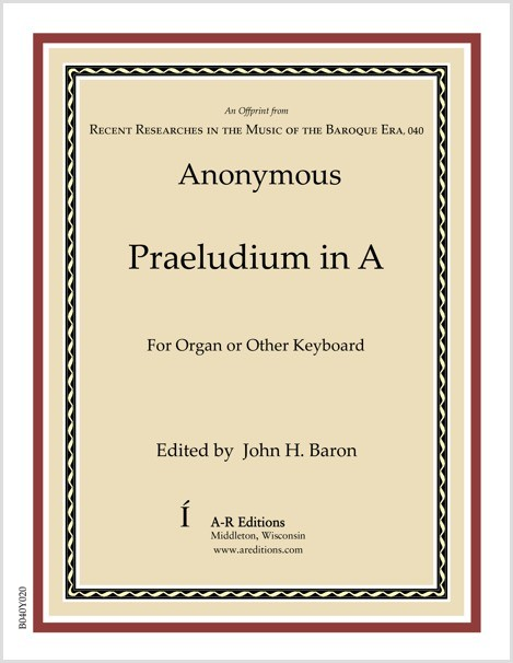 Anonymous: Praeludium in A