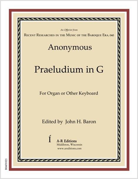 Anonymous: Praeludium in G