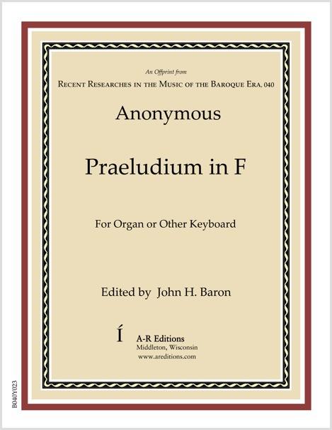 Anonymous: Praeludium in F
