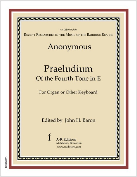 Anonymous: Praeludium