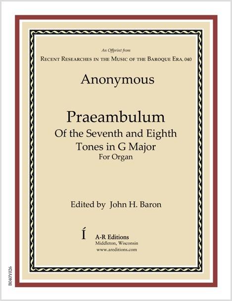 Anonymous: Praeambulum