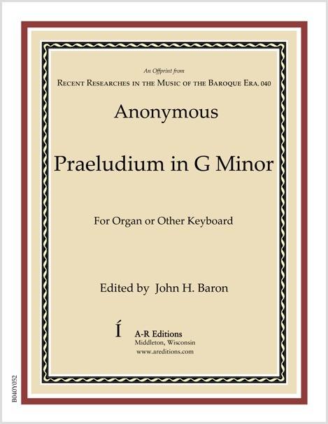Anonymous: Praeludium in G Minor