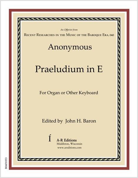 Anonymous: Praeludium in E