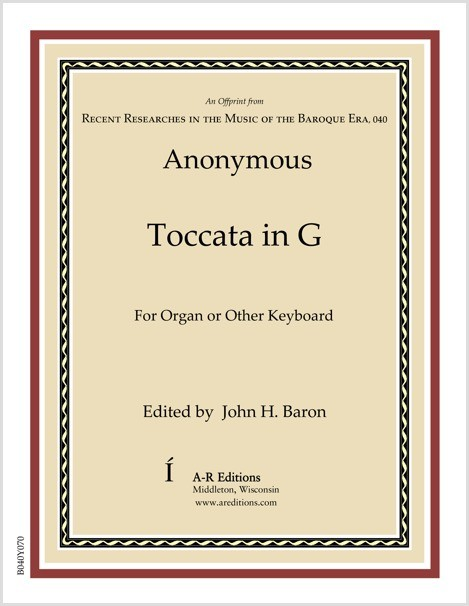 Anonymous: Toccata in G
