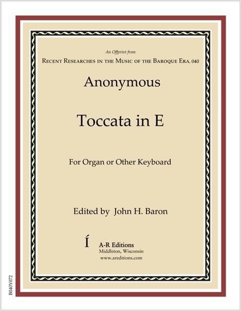 Anonymous: Toccata in E
