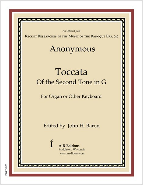 Anonymous: Toccata