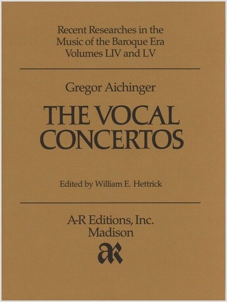 Aichinger: Vocal Concertos
