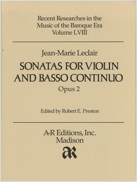 Leclair: Sonatas for Violin, Op. 2
