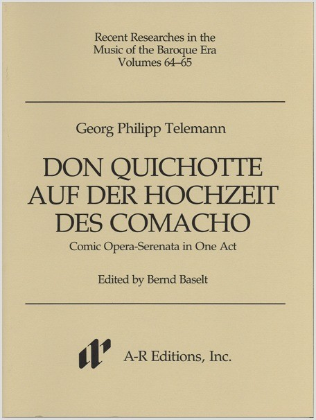 Telemann: Don Quichotte aur der Hochzeit des Comacho