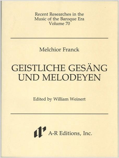Franck: Geistliche Gesäng und Melodeyen